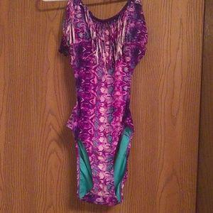 Purple fringe swimsuit